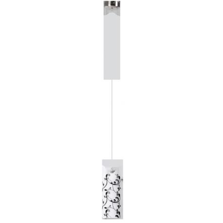 RABALUX 6394 Lampa wisz.Blossom E27/60W chrom sa | t./klosz opalizowany