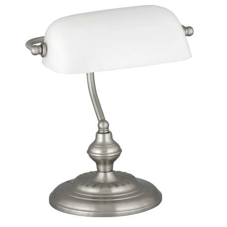 RABALUX 4037 Lampka biurkowa Bank E27/1x 60W chro | m satyna