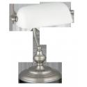 Lampka biurkowa Bankowa E27 1x 60W chrom-satyna RABALUX 4037