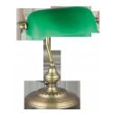 Lampka biurkowa Bankowa E27 1x 60W brązowa RABALUX 4038