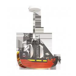 Lampa Ship, E27, 1x 40W, czarno-pomarańczowy, RABALUX 4719