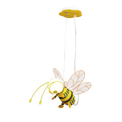 Lampa Bee, E27, 1x 40W, czarno-żółta, RABALUX 4718