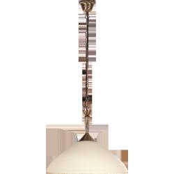 Lampa wisząca Regina, E27, 1x 60W, brąz, klosz kremowy, RABALUX 8176