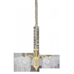 Żyrandol Rafaella, E14, 5x 40W, złoty, RABALUX 7235