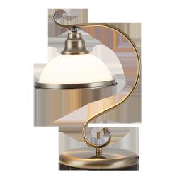 Lampa stołowa Elisett, E27, 1x 60W, mosiądz antyczny, RABALUX 2752