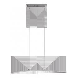 Lampa wisząca ADDISON, 108 LED, 21W, IP20, szczotkowane aluminium, RABALUX 5759
