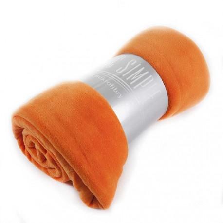 Koc Simple 150x200cm pomarańczowy EUROFIRANY