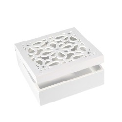 SZKATUŁKA BOX ADA 16x16x6cm biała EUROFIRANY