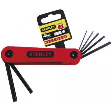 STANLEY Klucze sześciokątne kpl. 7 szt. 1,5-6 mm