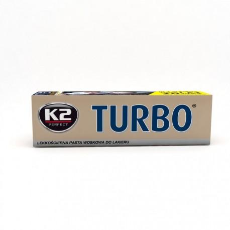 INTER-CARS K2 TURBO TEMPO 120 - lekkooec ierna pasta do zarysowań