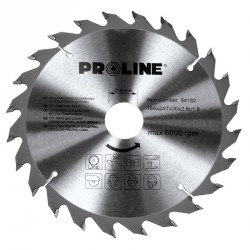 Piła tarczowa z węglikiem spiekanym do drewna 205mm 24 zęby Proline PROFIX 84207