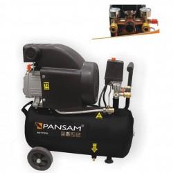 PANSAM Jednocylindrowy kompresor ze smarowaniem olejowym 1.5kW, 8bar, 24 litrów, 2KM