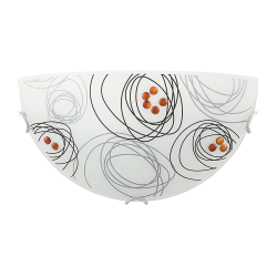 Lapma Ścienna Plafon Debby E-27 1x60 W biały/czarny/brązowy RABALUX 3289