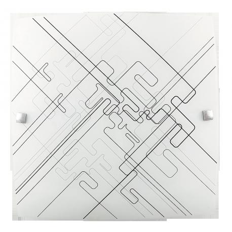 RABALUX 3293 Plafoniera Roger E-27/2x60W biała/czarne
