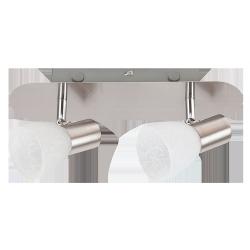 LAMPA SUFITOWA SPOT HANNAH E14 2X40W CHROM SATYNA RABALUX 6136