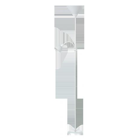 RABALUX 4061 Lampa podł.Action E27/1x100 W+E14/1x | 25W biała