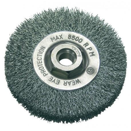 Szczotka tarczowa 115mm z drutu falowanego z gwintem M14 Proline PROFIX 32521