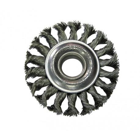 Szczotka tarczowa 115mm z drutu skręcanego z otworem 22mm Proline PROFIX 32551