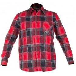 Koszula flanelowa w kratę czerwona rozmiar XXL LahtiPro PROFIX LPKF12XL